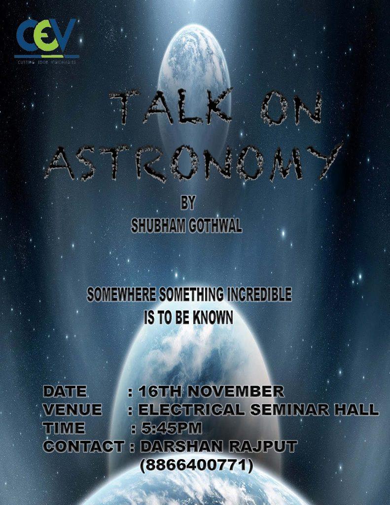 A Talk on Astronomy