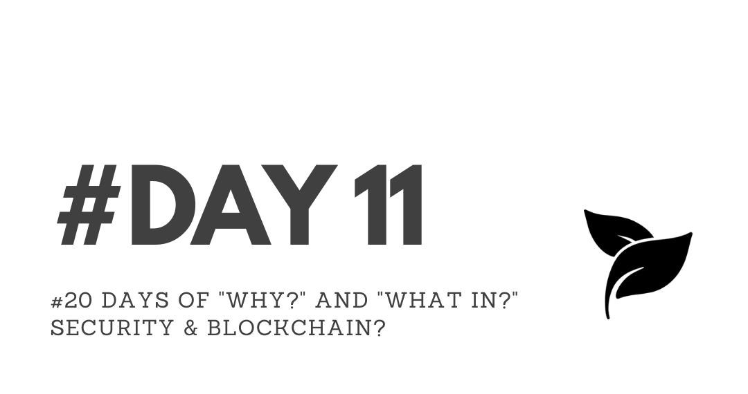 """Day11 – """"Why?"""" & """"What in?"""" Security & Blockchain?"""