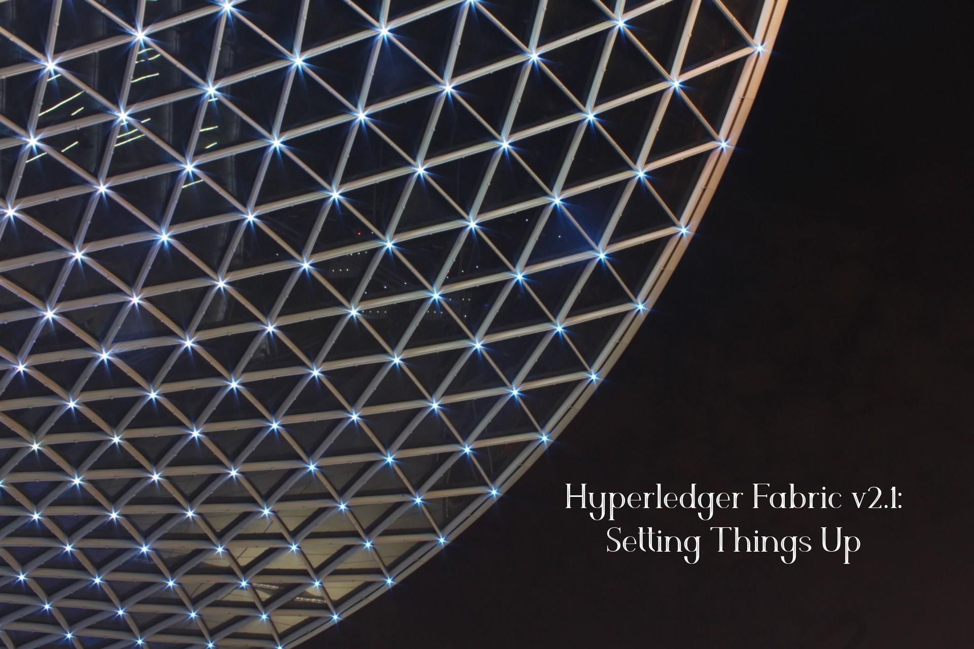 Hyperledger Fabric v2.1: Setting Things Up