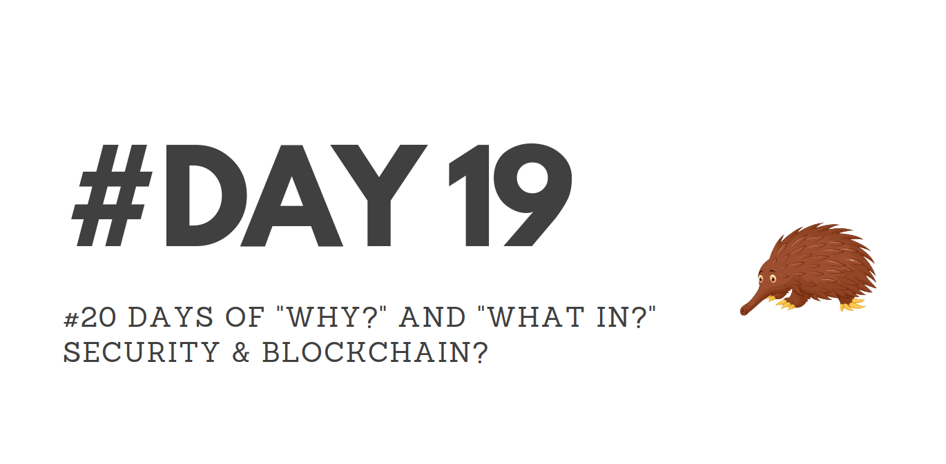 """Day19 – """"Why?"""" & """"What in?"""" Security & Blockchain?"""