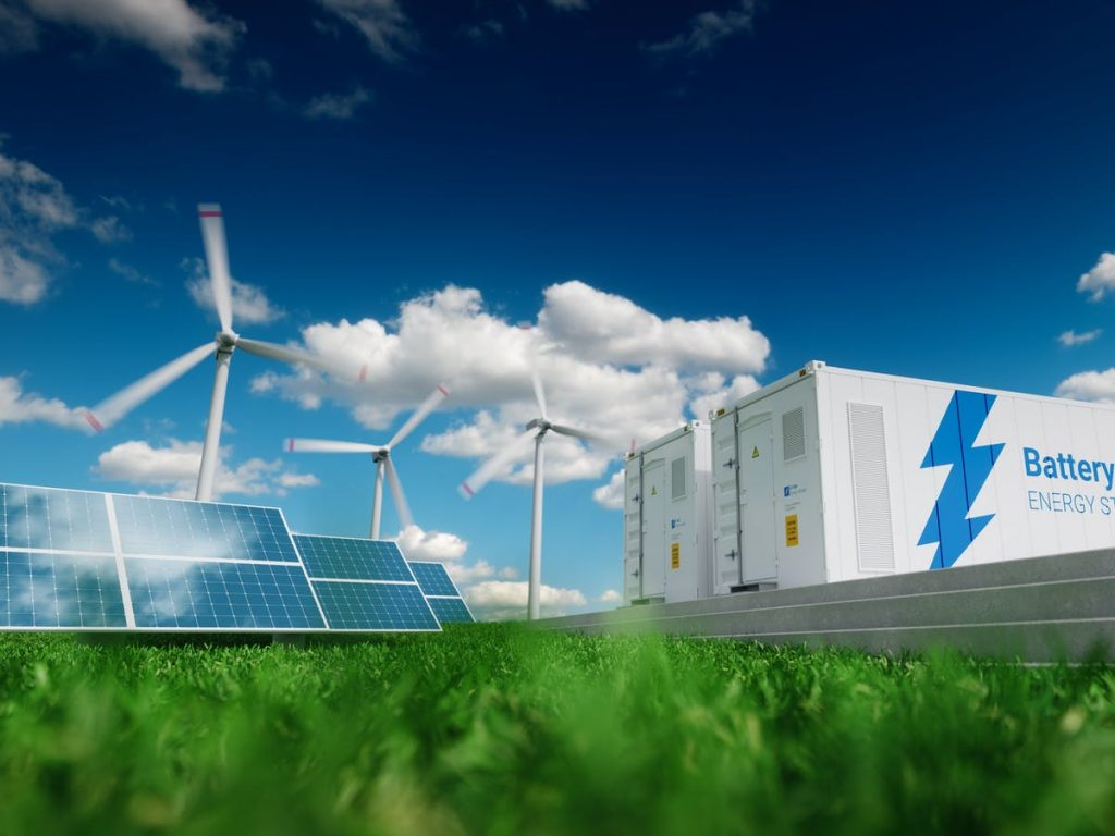 image depicting battery being used for renewable energy storage